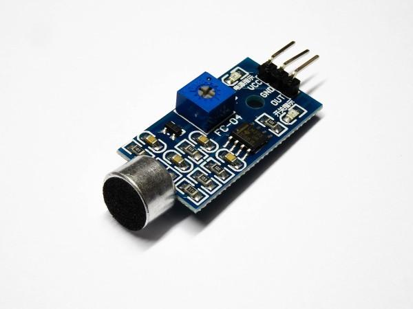 Microphone Mikrofon Geräuscherkennung Sound Sensor Modul Raspberry Pi Arduino