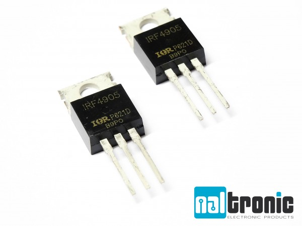 1x 5x IRF4905 IRF4905PBF MOSFET TO220 P-Kanal 55V 74A 200W
