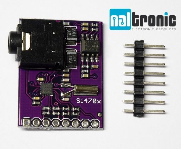 Si4703 FM Radio Tuner Evaluation Breakout RDS RBDS Board Modul für Arduino AVR
