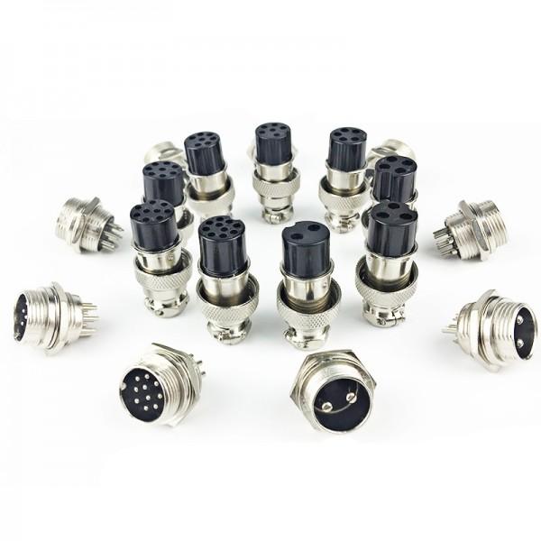 1-3x GX12 - 2 3 4 5 6 7 Pin 12mm Stecker Buchse Steckverbinder Anschlusstecker