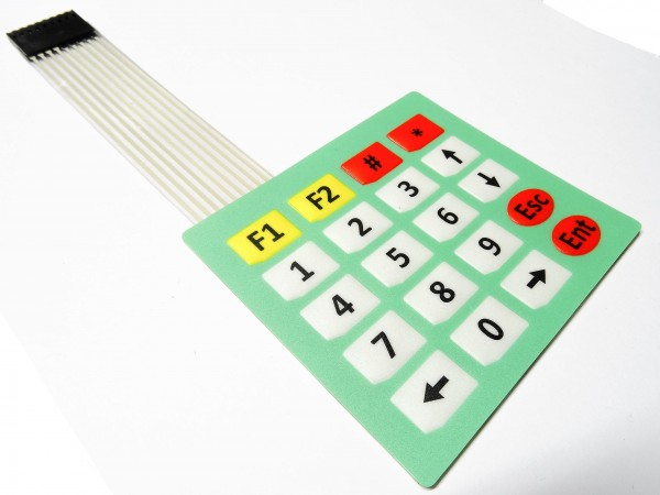 20 Tasten 4x5 Matrix Folientastatur Tastatur control panel Keypad Arduino