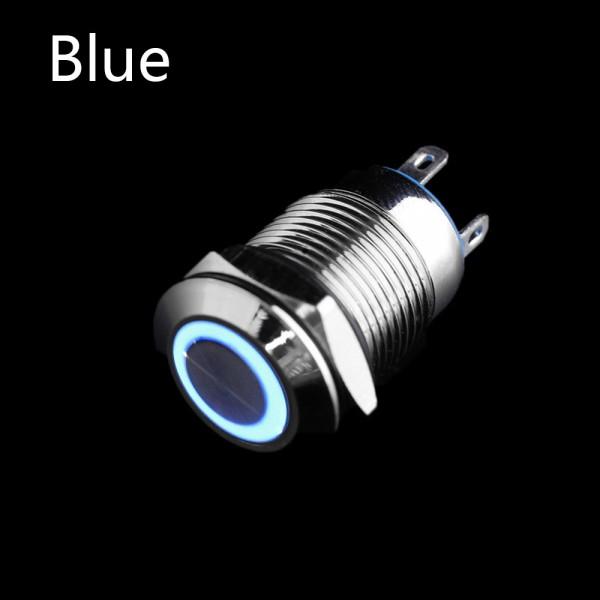 12V 12mm LED Drucktaster Klingeltaster Edelstahl Taster Schließer Druckschalter