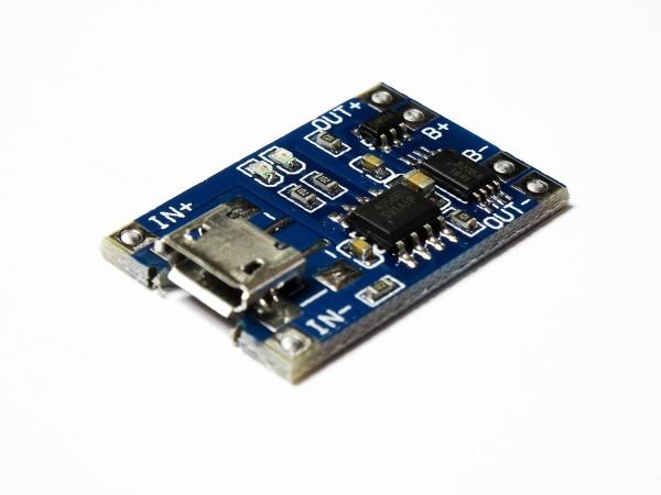 1S Lithium Lipo Ladegerät Lademodul 1A 1000mA Micro USB Lader TP4056 Arduino