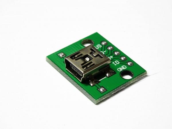 1 / 5 Mini USB zu 5PIN DIP Adapter 2,54mm Breadboard Modul für Arduino DIY