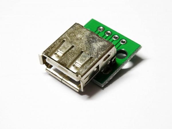 1 / 5 USB Buchse Female zu 5PIN DIP Adapter 2,54mm Breadboard Modul für Arduino