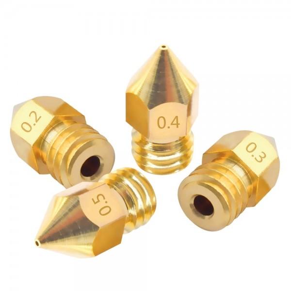 3D Drucker Düse Extruder Druckkopf MK7 MK8 1,75-3mm Filament 0,2 -1mm Leimdüse