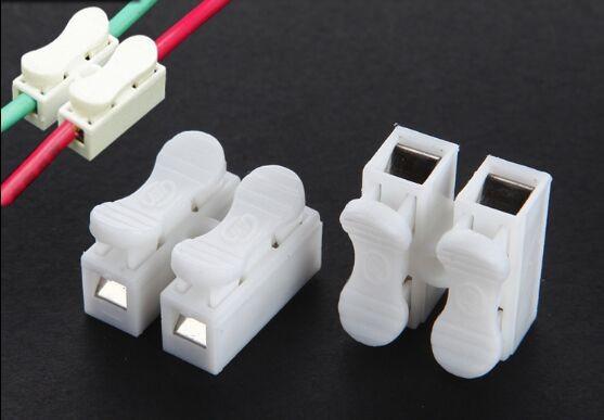 10-20 Stück 2pin Druckfeder Lüsterklemme Kabelverbinder Verbindungsklemme 2pol
