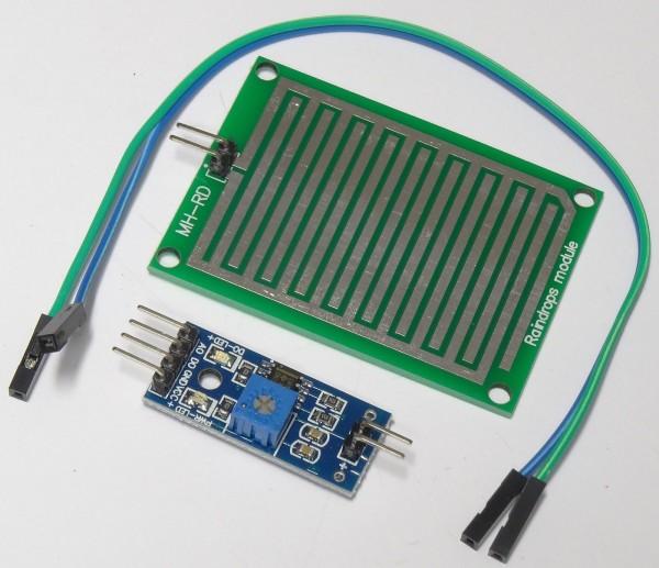 Luftfeuchtigkeitsmesser Sensor Modul Regentropfen Regen Sensor Board Arduino 50