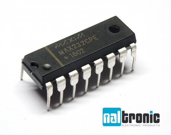 MAX232CPE MAX232 IC RS232 Driver 5V 16-DIP DIP16 Receiver RS232 Sender Empfänger