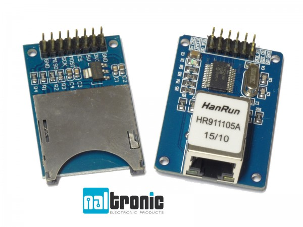 ENC28J60 Ethernet Lan Netzwerk Modul SD Card Modul RJ45 Modul Arduino Atmel 47