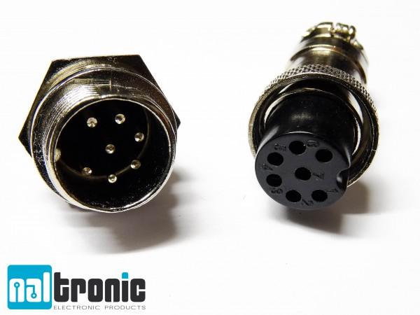 GX16 GX16-7 7Pin 16mm Stecker Buchse Steckverbinder Anschlusstecker