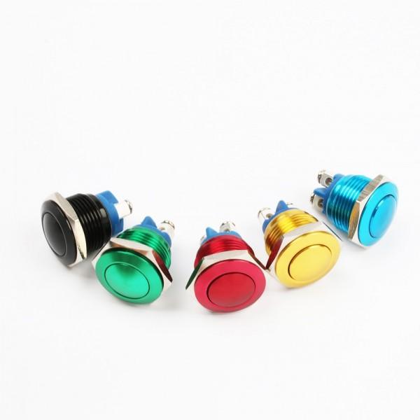 Aluminium eloxiert Drucktaster Taster Klingel Klingeltaster 2A/250VAC 16mm