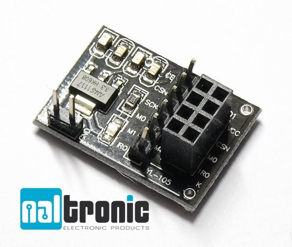 Adapterplatte Board Sockeladapter für 8-pin NRF24L01 Funk Modul für Arduino 162