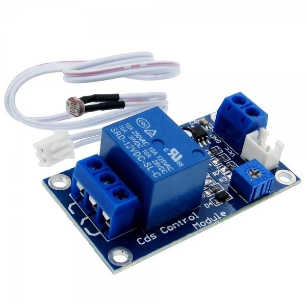 5V 12V XH-M131 Fotowiderstand Licht Sensor Modul Board mit Relais Relay Arduino