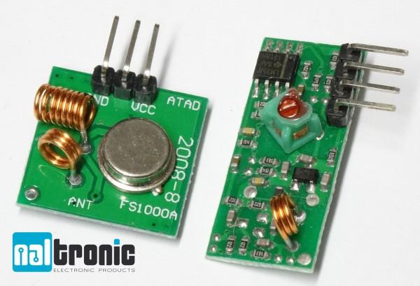 1x 5x 433MHz RF Sender Empfänger Wireless Receiver Transmitter Sendermodul 74
