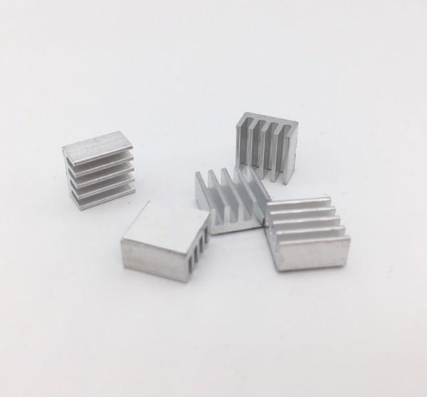 5 Stück Aluminium Kühlkörper Kühlrippe 9 x 9 x 2 mm Kühler Heat Sink 9x9x2mm
