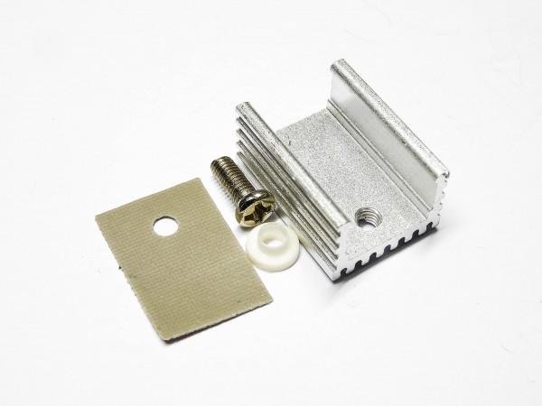 5x / 10x TO220 Aluminium Kühlkörper 15x20mm für Transistor TO-220 Kühler Set