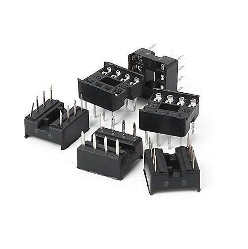 DIP8 IC Sockel 2.54mm 8pin DIP-8 DIL Fassung Halter