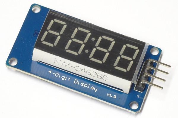 4 Bit Digital Segment Anzeige Modul TM1637 4 Ziffern LED Display für Arduino 29