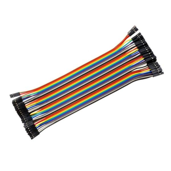 5x 10cm 40Pin Dupont kabel Jumper Steckbrett Kabel Buchse-Buchse Female Arduino