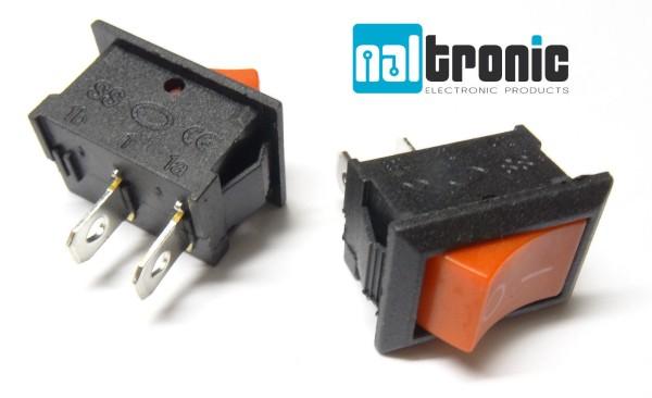 Wippschalter Ein/Aus 230V schwarz Rot Kippschalter Schalter Einbauschalter - 127