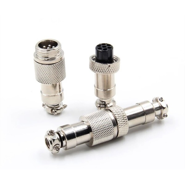 1-3x GX12 - 2 3 4 5 6 7 Pin 12mm Stecker Buchse Anschlusstecker Steckverbinder