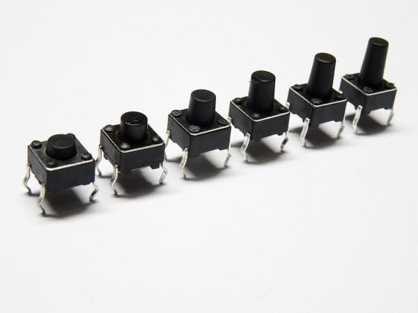10 / 20 DIP 4pin Mini Drucktaster Mikroschalter Printschalter 6x6x5 6 7 8 9 10mm
