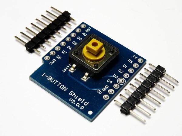 WeMos D1 Mini 1-Button Button Shield Taster Board Expansion Board NodeMcu Modul