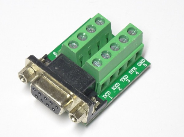 D9 D-Sub 9pin RS232 Adapter Terminal Modul Board Seriell DB9 Modul 34