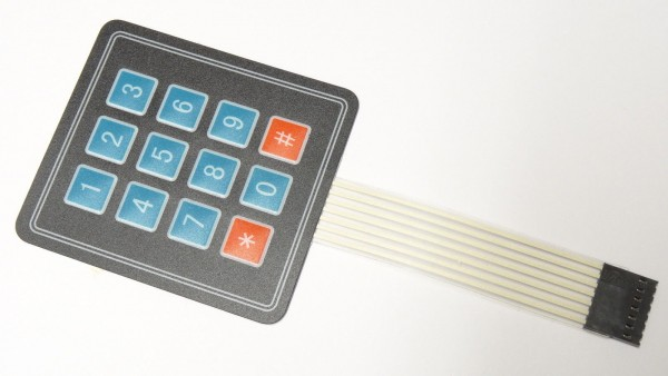 12 Tasten Matrix Folientastatur Tastatur control panel Keypad Arduino - 10