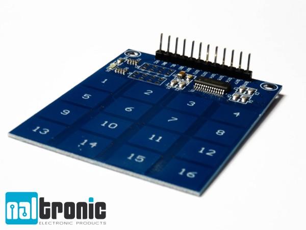 16 Kanal 4x4 Touch Sensormodul TTP229 Kapazitiv Sensor Board Arduino Raspberry